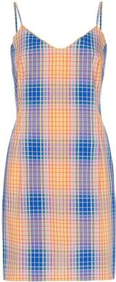 Simon Miller Tawas check mini dress