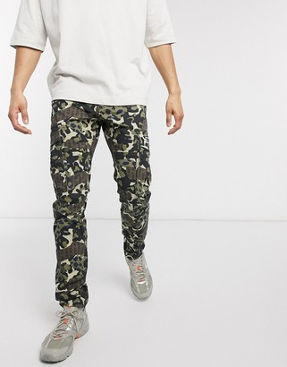 Tommy Jeans scanton slim fit camo print cargo pants in green