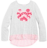 Design History Girls' Floral Heart Top - Sizes 2-6X