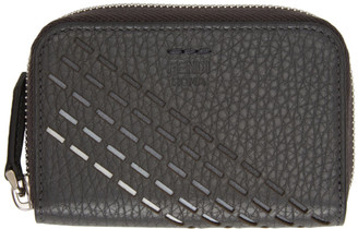Fendi Grey Small Degrade Zip-Around Wallet
