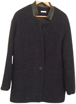 By Zoé Navy Wool Coat for Women