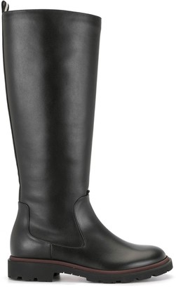 Bally Leather Mid-Calf Boots