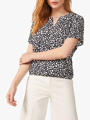 Phase Eight Zakiyah Spot Top, Navy/Ivory