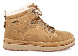UGG Men's Avalanche Hiker Suede& Shearling Boots - Chestnut - Size 12
