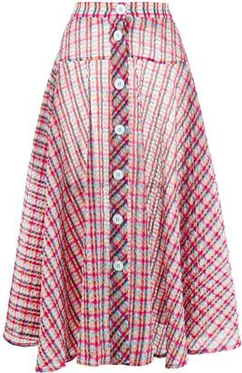 Ultràchic Tartan Flared Skirt