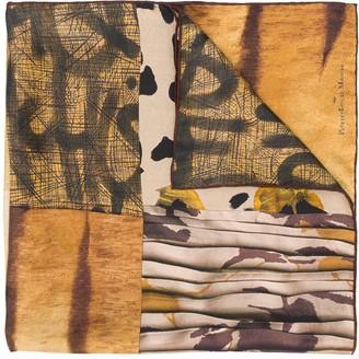 Pierre Louis Mascia Animal-Print Silk Foulard