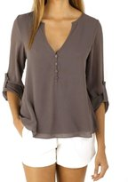 Womens Clothes,Neartime Casual Full Sleeve Chiffon Tee Shirt Tops Plus