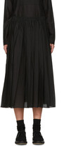 Sara Lanzi Black Pleated Muslin Skirt