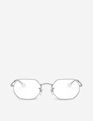 Ray-Ban RX6456 metal and glass octagonal-frame glasses