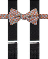Alfani Men's Fencing Gingham Bow Tie & Suspender Set, Only at Macy's