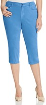 NYDJ Plus Ariel Straight Leg Crop Jeans in Regatta Blue