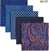 Shlax & Wing Shlax&Wing 5 Pieces Assorted Mens Pocket Square Handkerchiefs Set Lot
