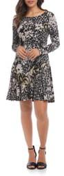 Karen Kane Dakota Long Sleeve Print Dress