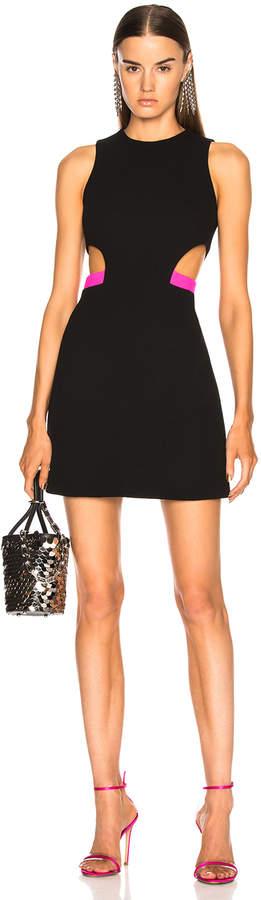 David Koma Side Waist Cutout Mini Dress