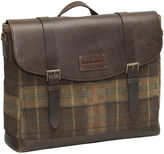 Johnston & Murphy Suede Leather Flapover Briefcase
