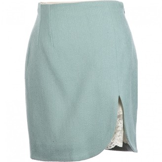 Christian Dior Green Wool Skirts