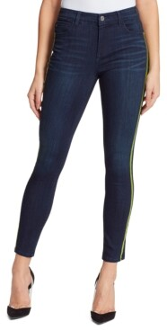 Skinnygirl Sarah Mid-Rise Side-Striped Ankle Jeans