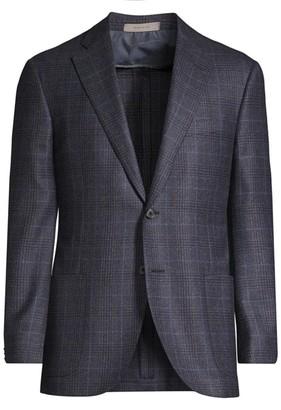Corneliani Regular-Fit Leader Plaid Wool Single-Breasted Jacket