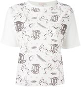 Olympia Le-Tan printed panel T-shirt