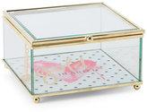 tri coastal Gold Hearted Glass Jewelry Box