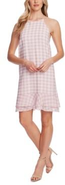 CeCe Ruffled Gingham-Plaid Dress