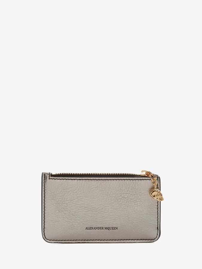 Alexander McQueen Zipped Card Holder