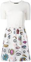 Moschino multi printed dress