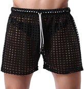 Panegy Mens Hollow Boxer Openwork Drawstring Lounge Underwear Shorts Size S