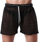 Panegy Mens Underwear Hollow Openwork Drawstring Lounge Boxer Shorts Size L