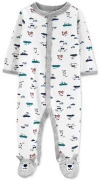Carter's Baby Boys Cotton Printed Footed Coverall