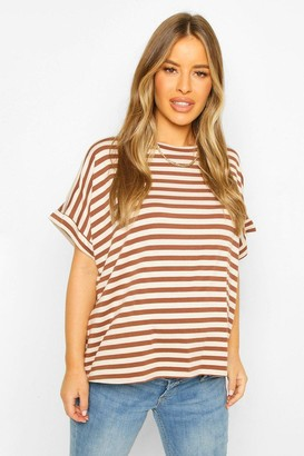 boohoo Maternity Stripe T-Shirt