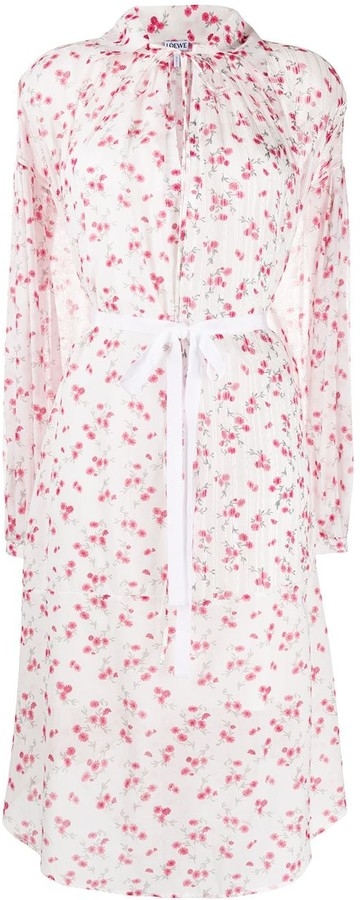 Loewe Floral-Print Knee-Length Dress