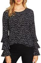 CeCe Ribbon Bell Sleeve Sweater