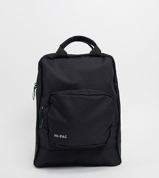 Mi-Pac Renew recycled materials tote backpack in black