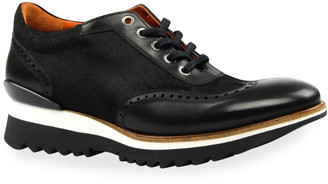 Ike Behar Men's Urban Brogue Calf Hair & Leather Oxford Sneakers