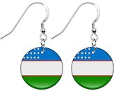 Body Candy Uzbekistan Flag Earrings