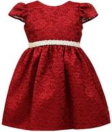 Jayne Copeland Red Beaded Lace Dress - Toddler & Girls
