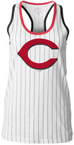 5th & Ocean Women's Cincinnati Reds Pinstripe Glitter Tank Top
