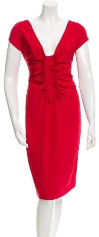 Valentino Sleeveless Ruched Dress