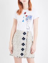 Mary Katrantzou Iven embroidered cotton T-shirt