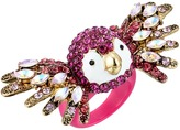 Betsey Johnson Tropical Pave Parrot Ring Ring
