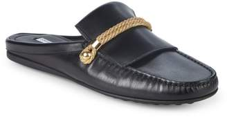 John Galliano Leather Backless Loafers