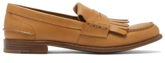 Church's Odessa Fringed Leather Penny Loafers - Tan