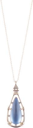 Alexis Bittar Bamboo Framed Pendant Necklace