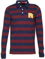 Front Up Rugby Mens World Tour Rugger Long Sleeve Polo Claret Jug
