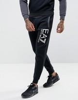Ea7 Fleece Large Logo Sweat Joggers In Black