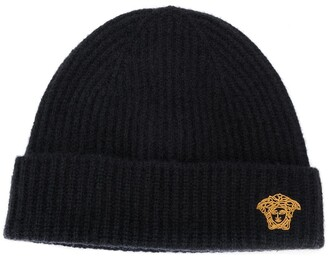 Versace Medusa Head ribbed-knit beanie