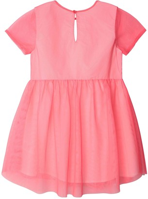 Billieblush Girls Short Sleeve Shimmer Layer Dress - Fuschia