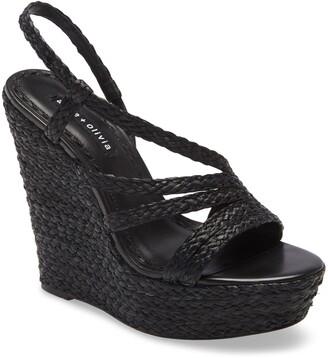 Alice + Olivia Tenley Woven Wedge Platform Sandal