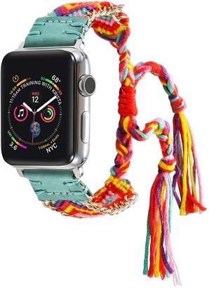 Turquoise Posh Tech Friendship Bracelet 42mm/44mm Apple Watch 1/2/3/4 Band